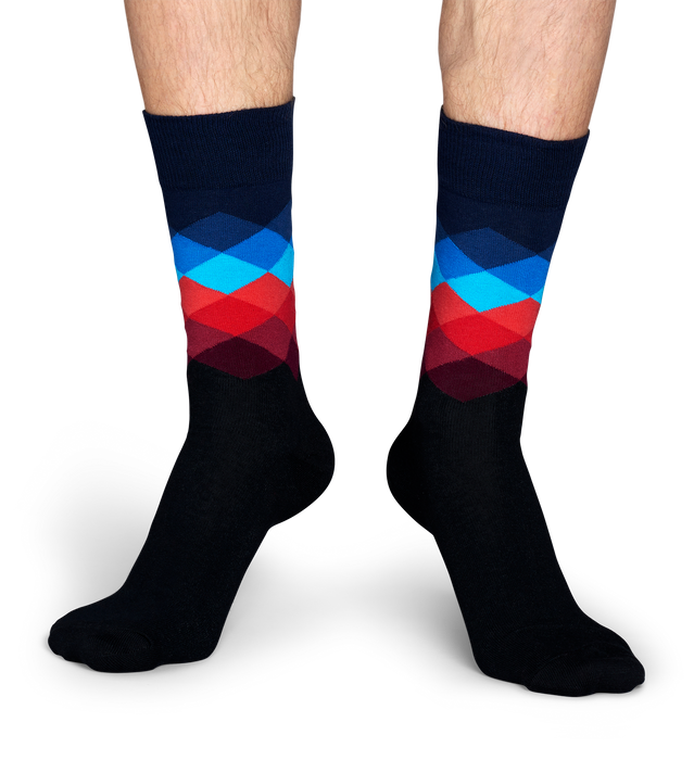 FADED DIAMOND SOCK