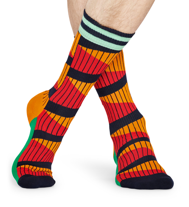 ATHLETIC DOUBLE DIAGONAL SOCK