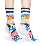 ATHLETIC CHECKED STRIPE SOCK