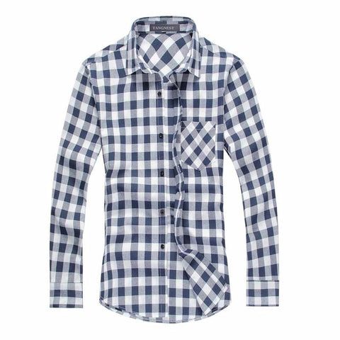 Men Plaid Long-sleeved Shirt