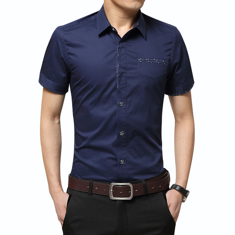 Men's Short Sleeve Formal Shirt