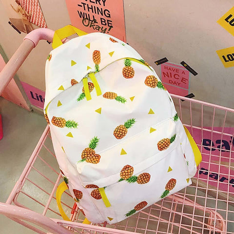 Fruit Decal Canvas Backpack