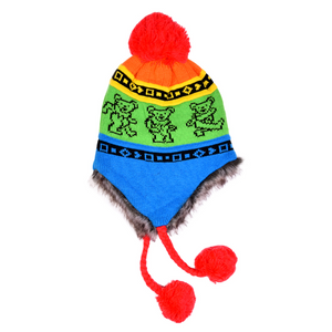 Grateful Dead - Rainbow Bear Knit  - Hats