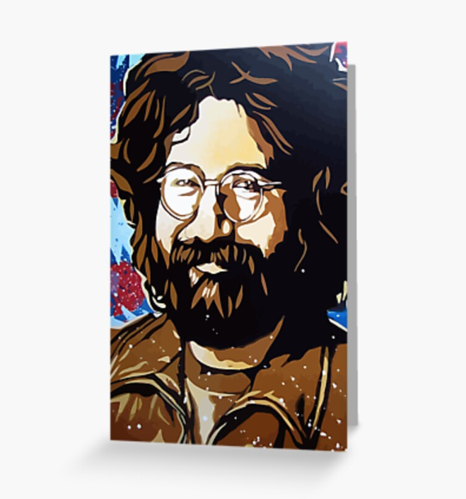 Grateful Dead - Jerry is Happy - Greeting Cards & PostCards
