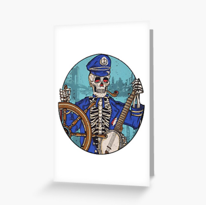 Grateful Dead - Captain Dead - Greeting Cards & PostCards