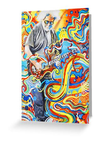 Grateful Dead - Jerry Playing - Greeting Cards & Postcards