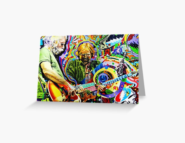 Grateful Dead - Psychedelic Jam - Greeting Cards & PostCards