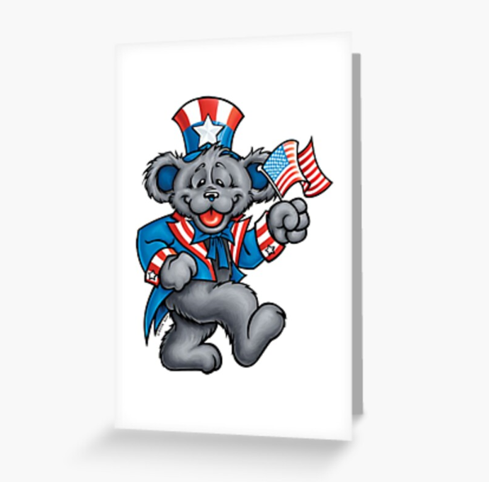 Grateful Dead - Uncle Bear - Greeting Cards & PostCards