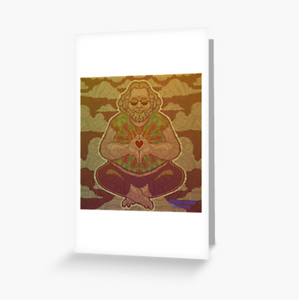 Grateful Dead - Jerry Meditating - Greeting Cards & PostCards