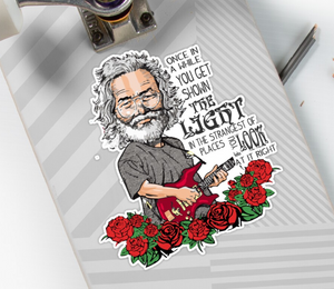 Grateful Dead - Jerry with Scarlet Begonias - Sticker
