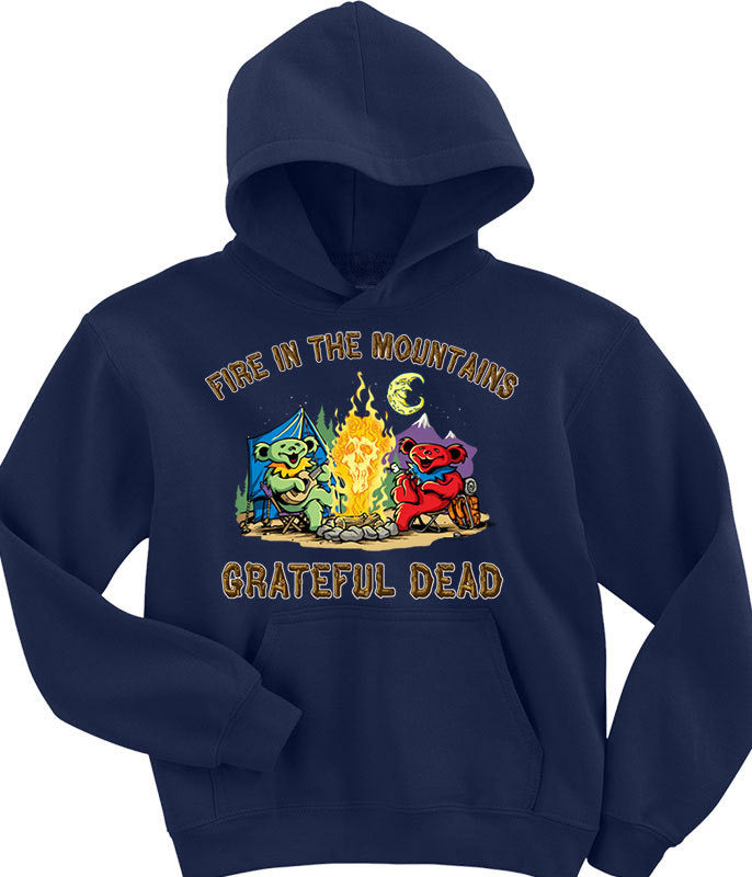 Grateful Dead - Fire In The Mountain Navy - Hoodie
