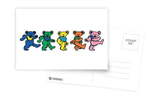 Grateful Dead - Dancing Bears - Greeting Cards & Postcards