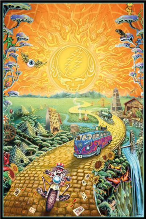 Grateful Dead - Golden Road - Poster
