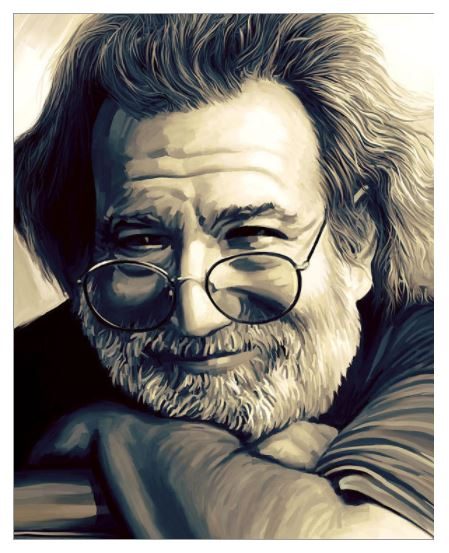 Grateful Dead - Jerry Garcia Artwork - Poster