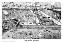 Grateful Dead - 100 Dead Songs - Poster