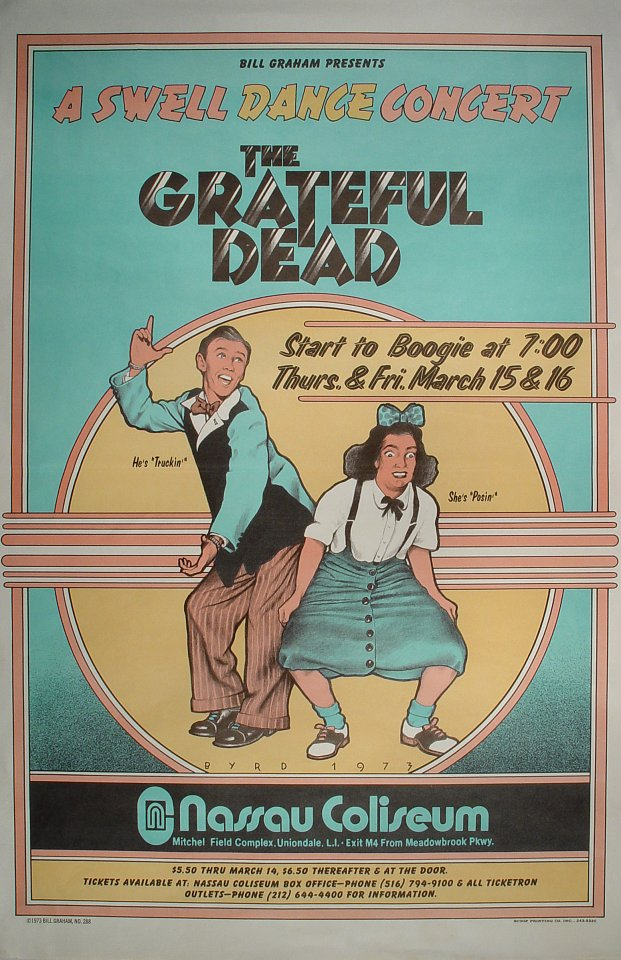 Grateful Dead - A Swell Dance Concert - Poster