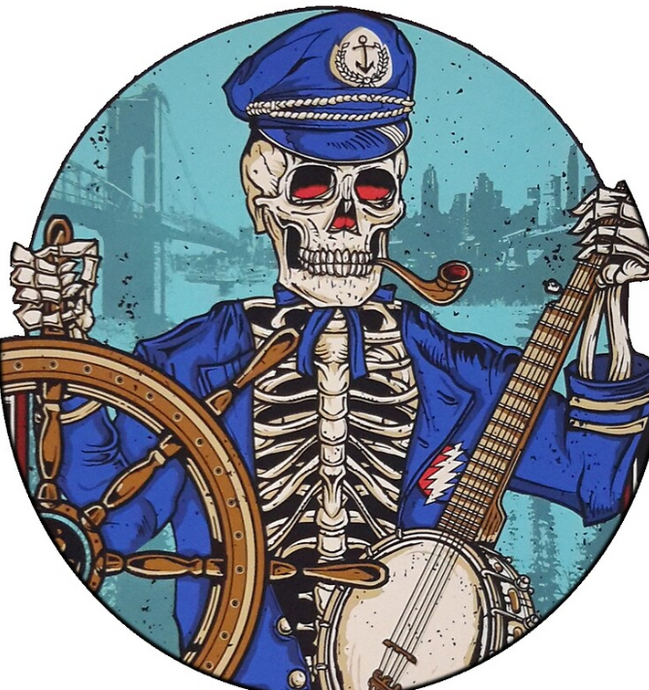 Grateful Dead - Captain Dead in White - Poster