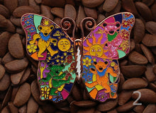 Grateful Dead - Butterfly Bears Lighting (2 1/3 Inch)  - Bolt Pin