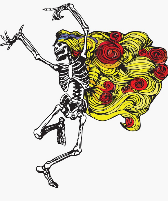 Grateful Dead - Dancing Begonia - Sticker