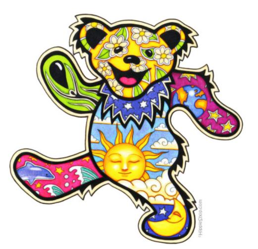 Grateful Dead - Dancing Bear Nights & Days - Sticker