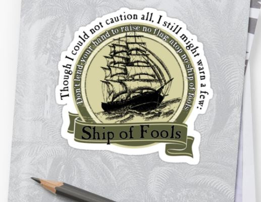 Grateful Dead - Ship of Fools - Sticker