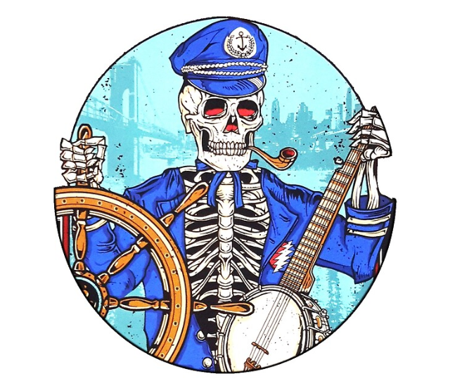 Grateful Dead - Captain Dead White - Tapestry