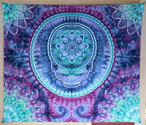 Grateful Dead - Steal Your Face Mandala (Tie-Dye) - Tapestry
