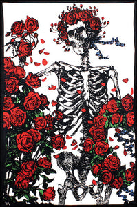 Grateful Dead - Skeleton with Roses - Tapestry