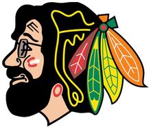 Grateful Dead - Jerry Hawk (Blackhawks) - Sticker