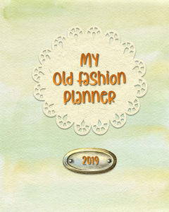 2019 Old Fashion Printable Planner (Free)