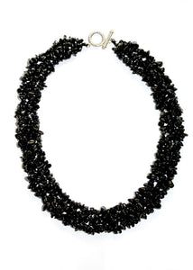 Genuine Onyx Gemschips Choker Necklace