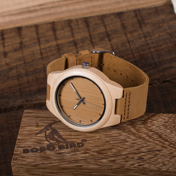 BOBO BIRD Maple Wood Watch
