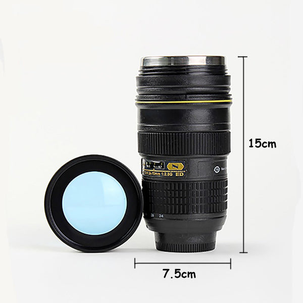 Camera Lens Stainless Steel Insulated Bottle Tumbler