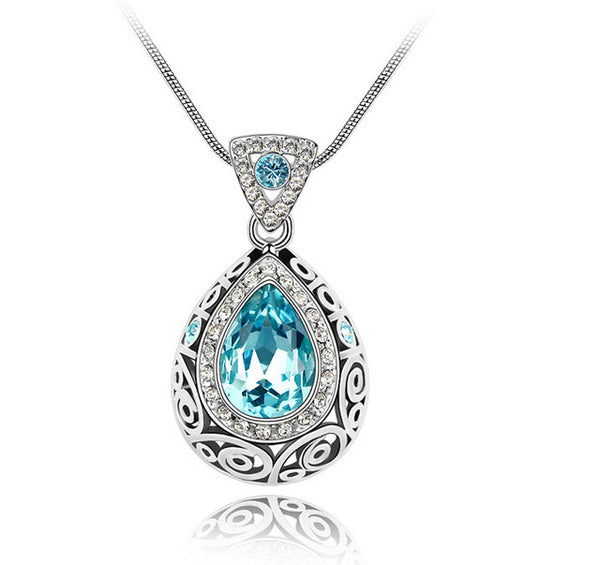 Angel Tear Austrian Crystal Pendant Necklace