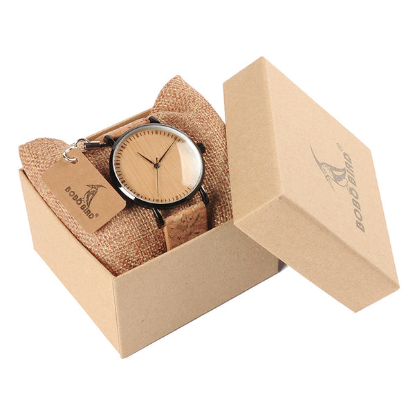 BOBO BIRD Unisex Bamboo Wooden Watch
