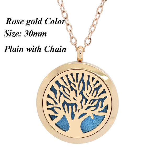 Tree of Life Aromatherapy Stainless Steel Necklace