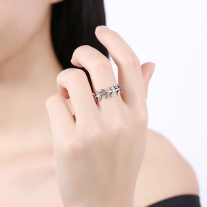 925 Sterling Silver Branch Ring