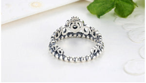 925 Sterling Silver My Princess Queen Crown Ring