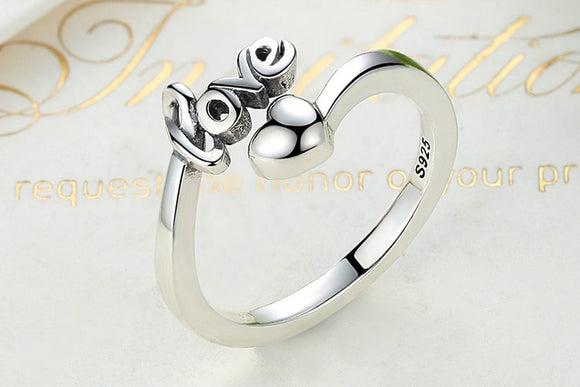 925 Sterling Silver I Love You Heart Ring