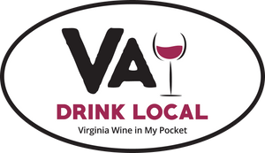 Drink Local - VA Wine car decal