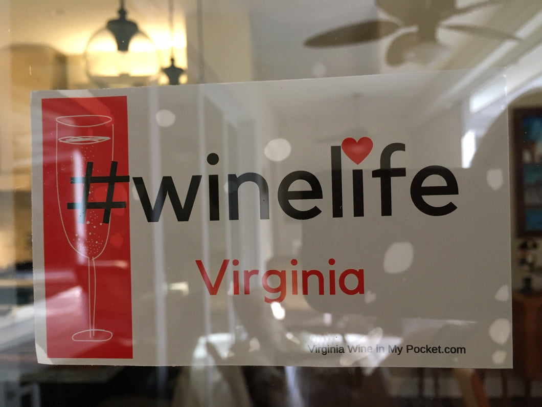 #WineLife Decal