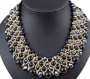 (Ava) Necklace Black