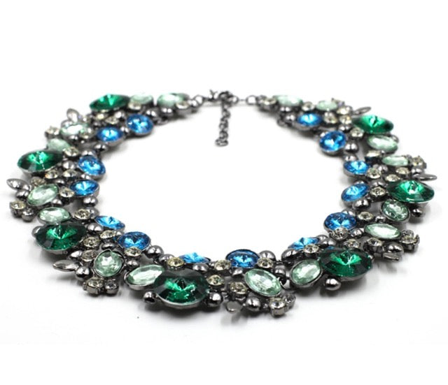 Holly Necklace (Green/Blue)