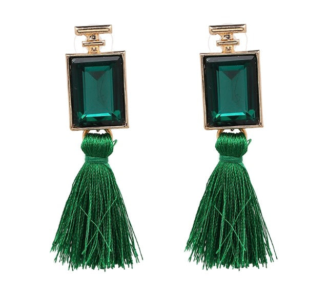 Kate Earrings (Green)