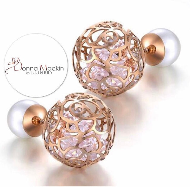 (Cara) Earrings ~ Rose Gold