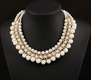 (Ava) Necklace Ivory
