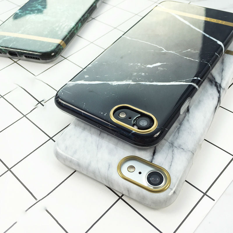 black whit and green marble cases