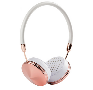 Cases Are Us Diamond Headphones rose gold wired