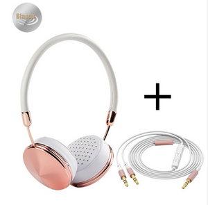 Cases Are Us Diamond Headphones rose white plus wire
