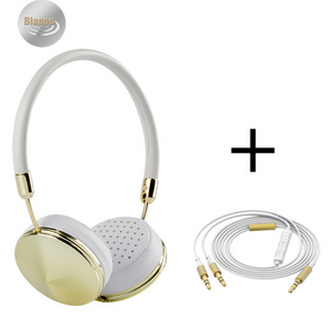 Cases Are Us Diamond Headphones gold white plus wire